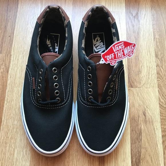 e6d71b6a4c Vans Era 59 Low Sneakers Black Leopard Trim
